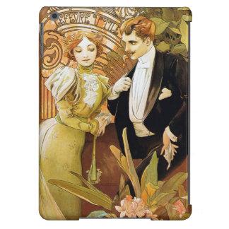 Alphonse Mucha Flirt Vintage Romantic Art Nouveau iPad Air Cover