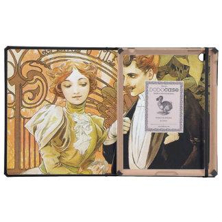 Alphonse Mucha Flirt Vintage Romantic Art Nouveau iPad Covers