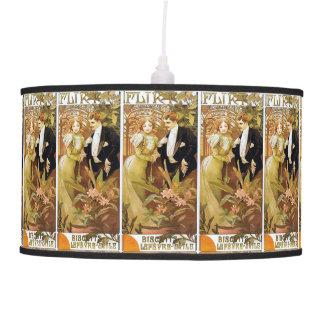 Alphonse Mucha Flirt Vintage Romantic Art Nouveau Ceiling Lamp