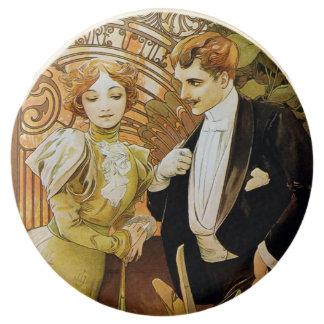 Alphonse Mucha Flirt Vintage Romantic Art Nouveau Chocolate Covered Oreo