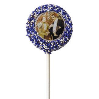 Alphonse Mucha Flirt Vintage Romantic Art Nouveau Chocolate Covered Oreo Pop