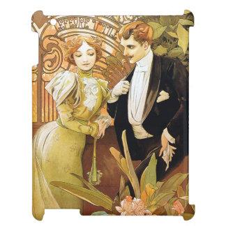 Alphonse Mucha Flirt Vintage Romantic Art Nouveau Cover For The iPad