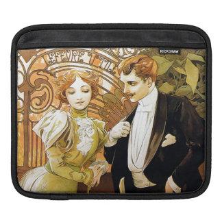 Alphonse Mucha Flirt Vintage Romantic Art Nouveau iPad Sleeves