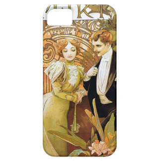Alphonse Mucha Flirt Vintage Romantic Art Nouveau iPhone SE/5/5s Case