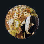"""Alphonse Mucha Flirt Vintage Romantic Art Nouveau Jelly Belly Candy Tin<br><div class=""""desc"""">Alphonse Mucha Flirt Vintage Romantic Art Nouveau Alfons Mucha, often known in English and French as Alphonse Mucha, was a Czech Art Nouveau painter and decorative artist, known best for his distinct style. He produced many paintings, illustrations, advertisements, postcards, and designs. """"Flirt"""" was one of the brands of biscuits made...</div>"""