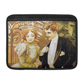 Alphonse Mucha Flirt Vintage Romantic Art Nouveau MacBook Sleeve