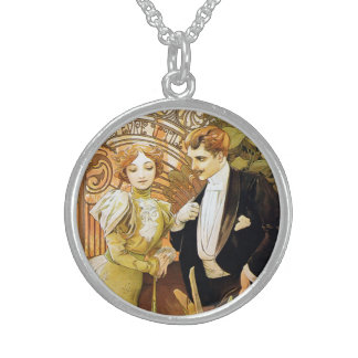 Alphonse Mucha Flirt Vintage Romantic Art Nouveau Necklaces