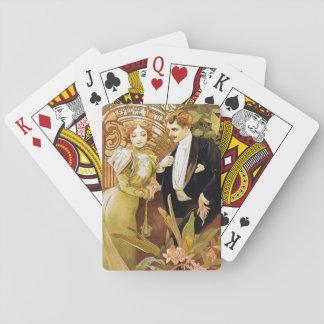 Alphonse Mucha Flirt Vintage Romantic Art Nouveau Playing Cards