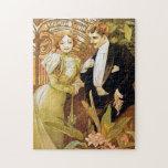 Alphonse Mucha Flirt Vintage Romantic Art Nouveau Puzzles