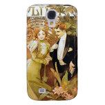 Alphonse Mucha Flirt Vintage Romantic Art Nouveau Samsung Galaxy S4 Cover