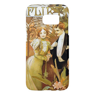 Alphonse Mucha Flirt Vintage Romantic Art Nouveau Samsung Galaxy S7 Case
