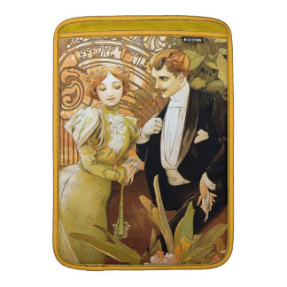 Alphonse Mucha Flirt Vintage Romantic Art Nouveau Sleeve For MacBook Air