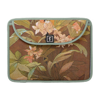 Alphonse Mucha Flirt Vintage Romantic Art Nouveau Sleeve For MacBooks