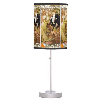 Alphonse Mucha Flirt Vintage Romantic Art Nouveau Table Lamp