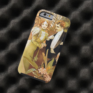 Alphonse Mucha Flirt Vintage Romantic Art Nouveau Tough iPhone 6 Case