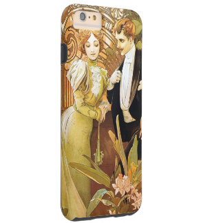 Alphonse Mucha Flirt Vintage Romantic Art Nouveau Tough iPhone 6 Plus Case