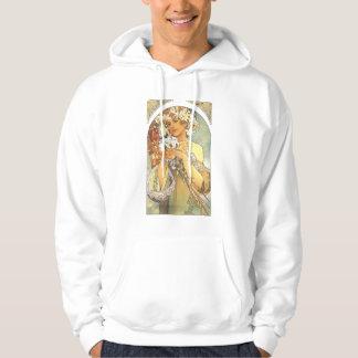 """Alphonse Mucha """"Flower"""" Art Nouveau Shirt"""