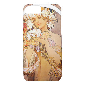 Alphonse Mucha Flower iPhone 7 Case