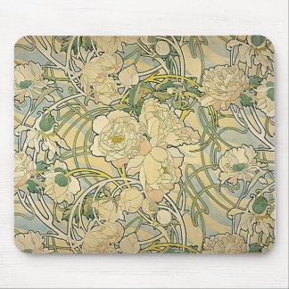 Alphonse Mucha - Flowers Mouse Pad