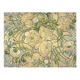 Alphonse Mucha - Flowers Postcard