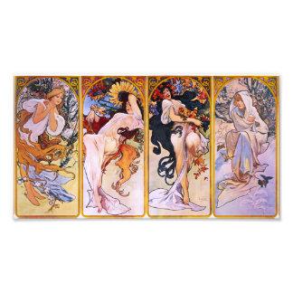 Alphonse Mucha Four Seasons Prin Photo Art