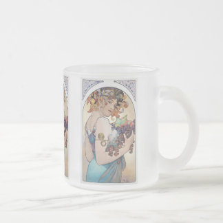 Alphonse Mucha Frosted Glass Coffee Mug