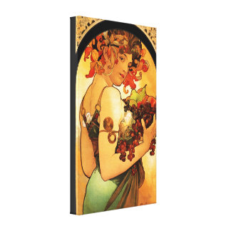 Alphonse Mucha Fruit Canvas Poster