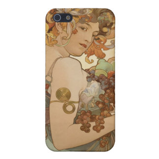 Alphonse Mucha Fruit Custom iPhone Speck Case Cover For iPhone 5