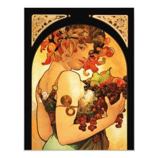 Alphonse Mucha Fruit Invitations