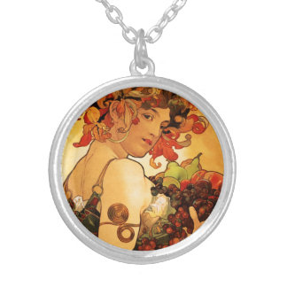 Alphonse Mucha Fruit Necklace