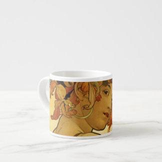Alphonse Mucha Fruit Painting Espresso Cup