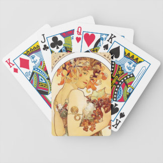"Alphonse Mucha ""Fruit"" Playing Cards"