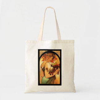 Alphonse Mucha Fruit Tote Bag