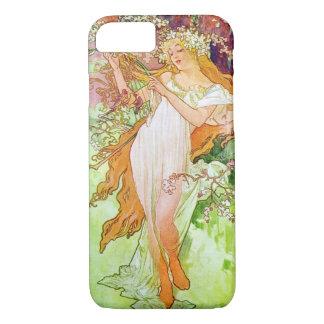 Alphonse Mucha Girl In Garden iPhone 7 Case