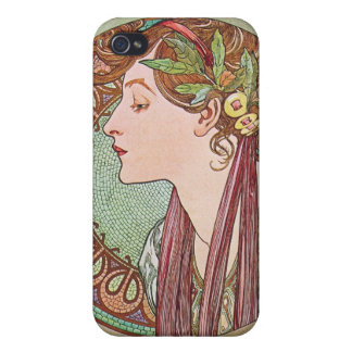 Alphonse Mucha Goddess Art Case For iPhone 4