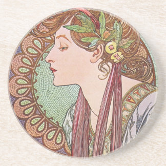 Alphonse Mucha Goddess Art Coasters