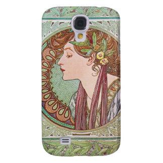 Alphonse Mucha Goddess Art Galaxy S4 Cases