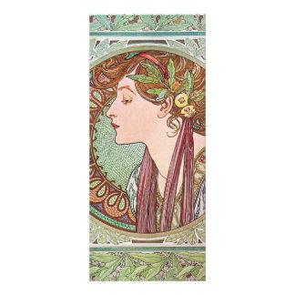 Alphonse Mucha Goddess Art Personalized Announcement