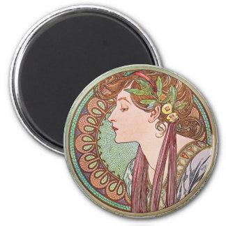 Alphonse Mucha Goddess Art Magnets