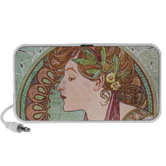 Alphonse Mucha Goddess Art Mini Speakers
