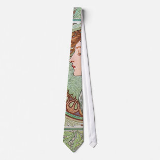Alphonse Mucha Goddess Art Neck Tie
