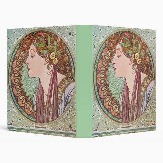 Alphonse Mucha Goddess Art Vinyl Binders