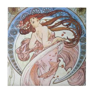 Alphonse Mucha Goddess Ceramic Tile