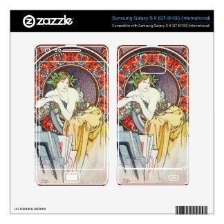 Alphonse Mucha Goddess Fine Art Samsung Galaxy S II Skins
