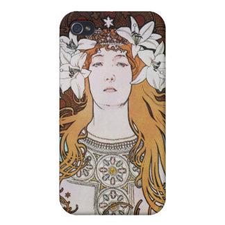 Alphonse Mucha Goddess Cases For iPhone 4