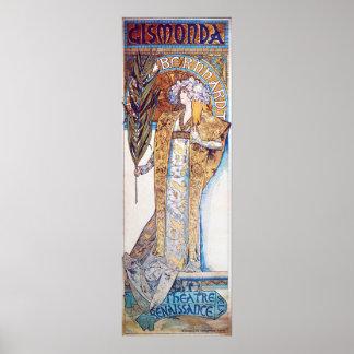 Alphonse Mucha Goddess Poster
