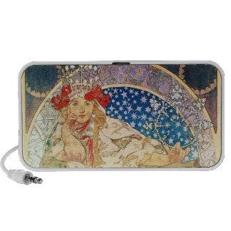 Alphonse Mucha Goddess iPod Speakers
