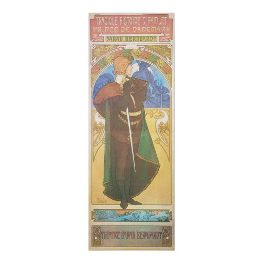 Alphonse Mucha. Hamlet, 1899 Poster