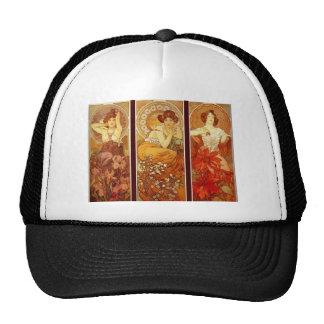 Alphonse Mucha Hats