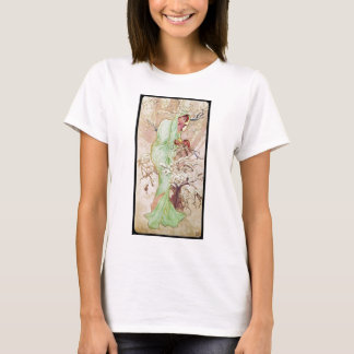 Alphonse Mucha Hiver Winter T-Shirt